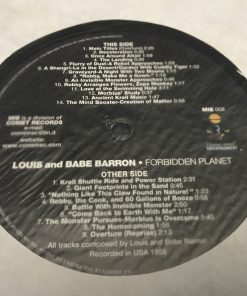 Louis and Bebe Barron - Forbidden Planet Soundtrack LP NM 2000 Ambient  Electronic