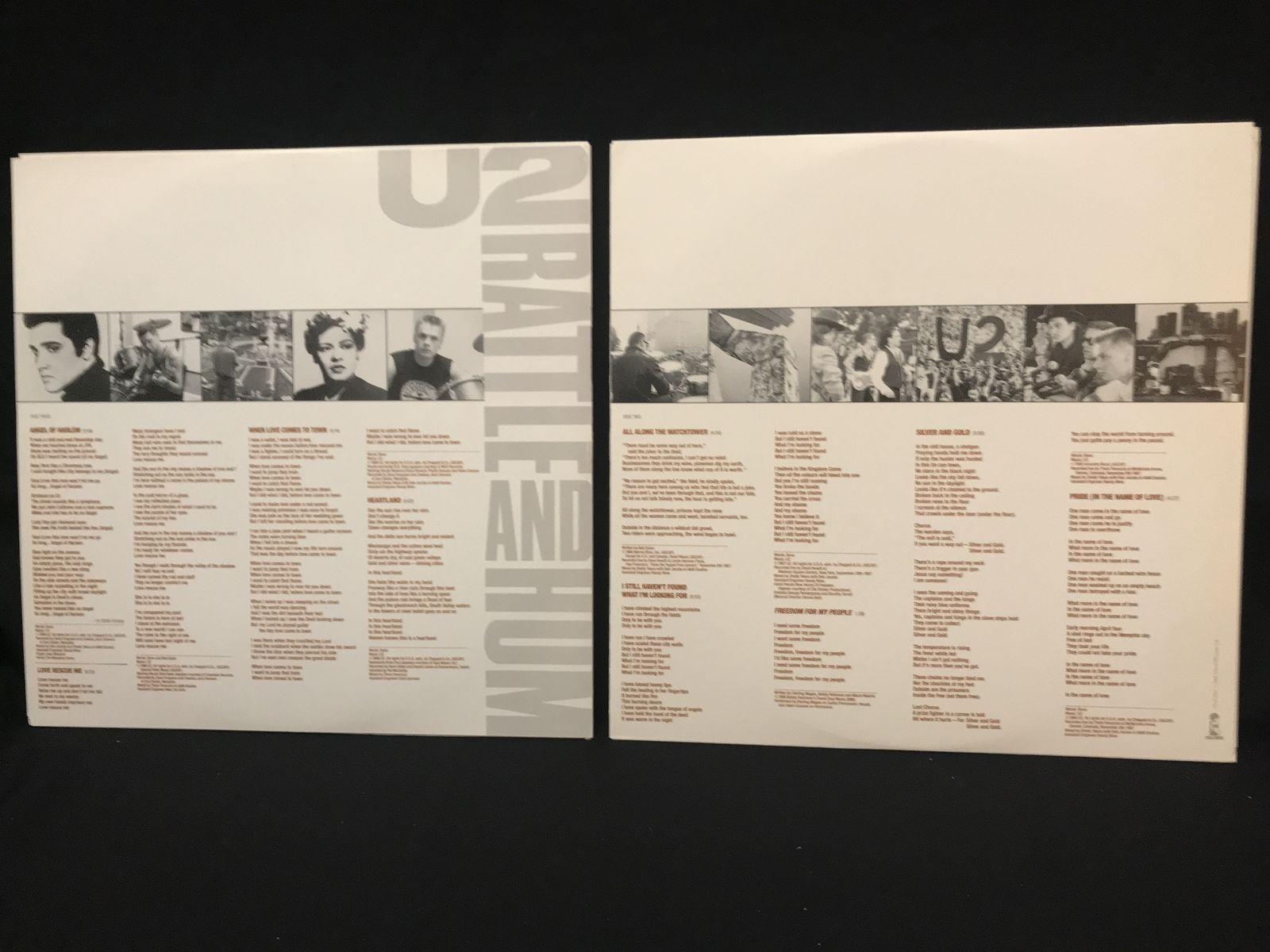 U2 - Rattle And Hum 2 LP NM Gatefold 1988 Canada Press Classic Rock