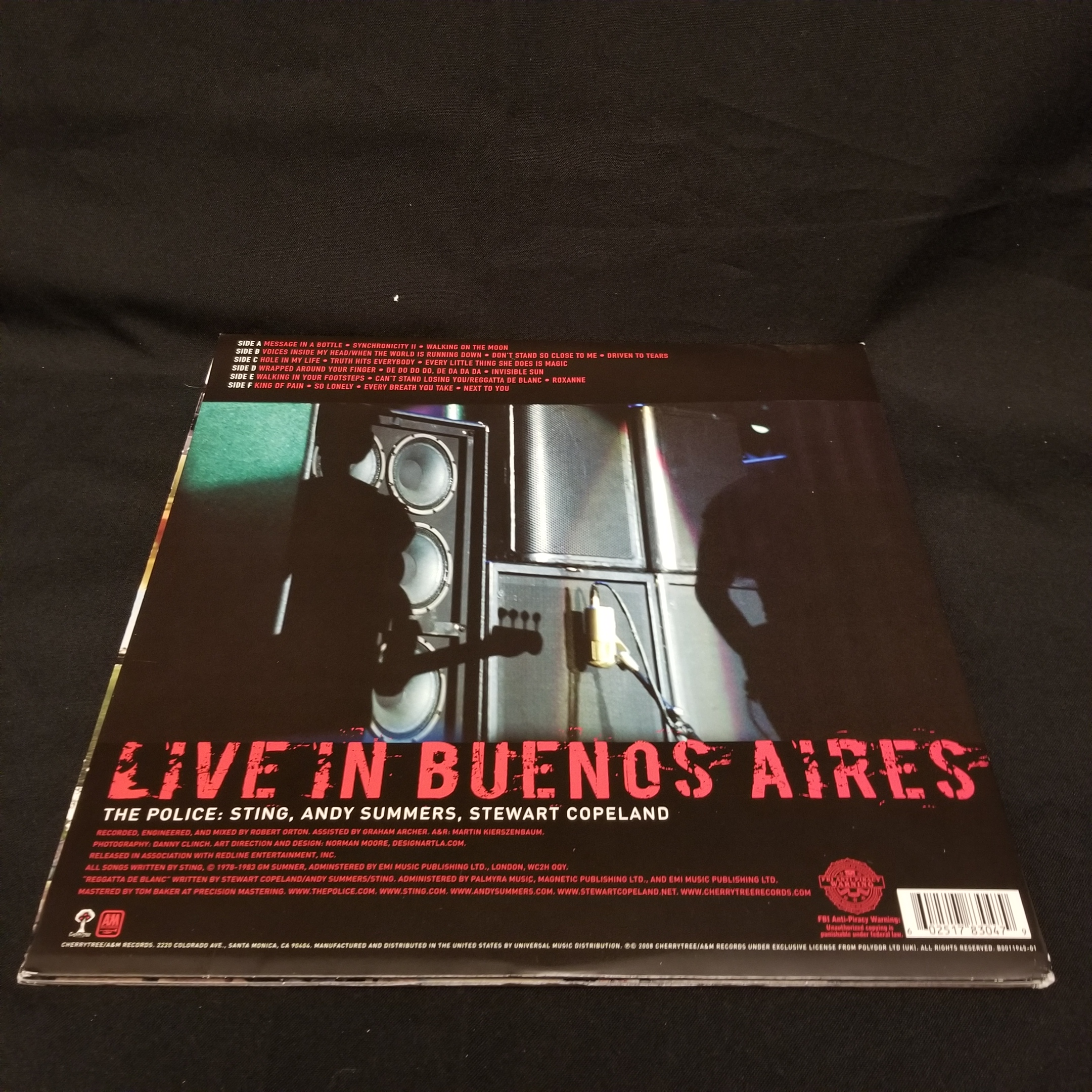 The Police - Certifiable (Live In Buenos Aires) LP NM 2008 Sting Copeland  Summers
