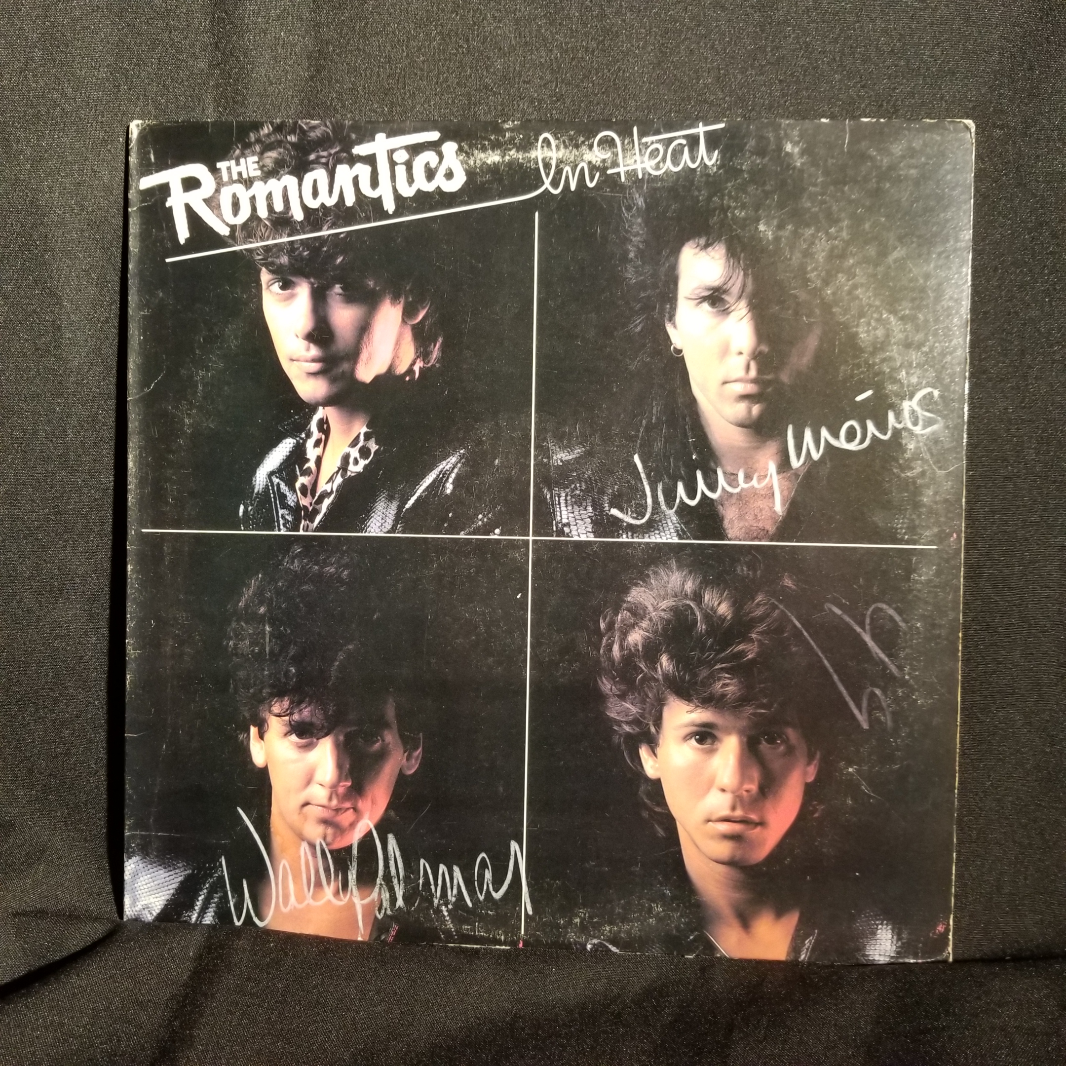 The Romantics In Heat Lp Autographed Signed Gold Stamp