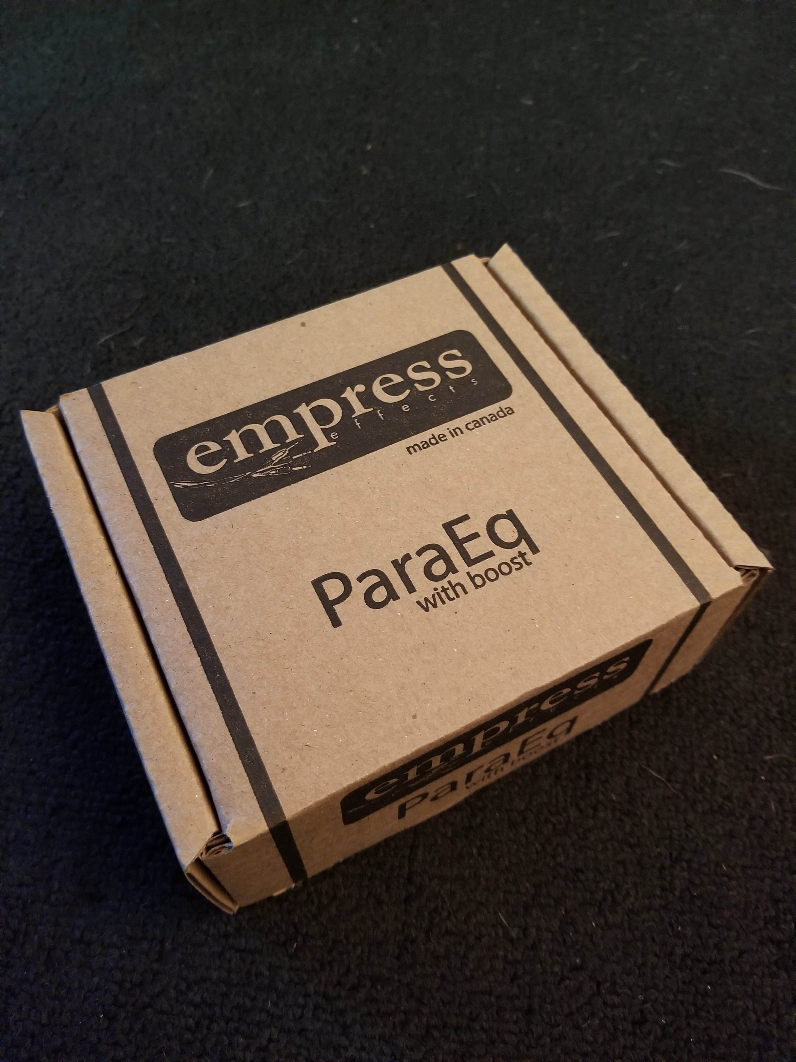 NEW Empress ParaEq With Boost Parametric Equalizer Effects Pedal