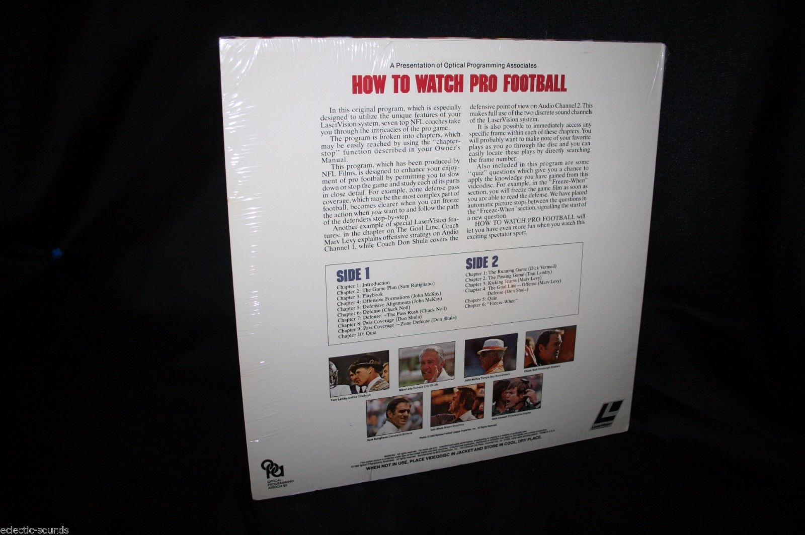 buy popular 5855c 53f63 LaserDisc NEW How To Watch Pro FOOTBALL & Golden Decade College 70-79 NFL  SPORTS Laser Disc